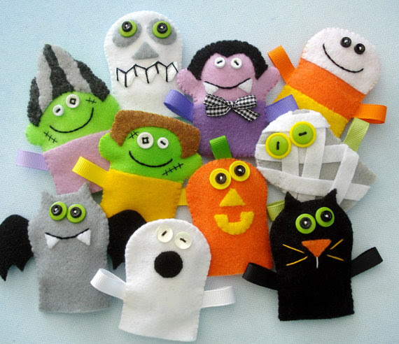Halloween Felt Finger Puppets E-Pattern