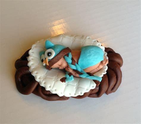 WOODLAND BABY SHOWER OWL FONDNAT CAKE TOPPER BABY SHOWER