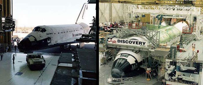 Assembly is completed on Discovery at her Rockwell manufacturing facility in Palmdale, California.