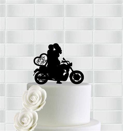 Wedding Motorcycle Cake Topper,Mr & Mrs Bicycle Cake