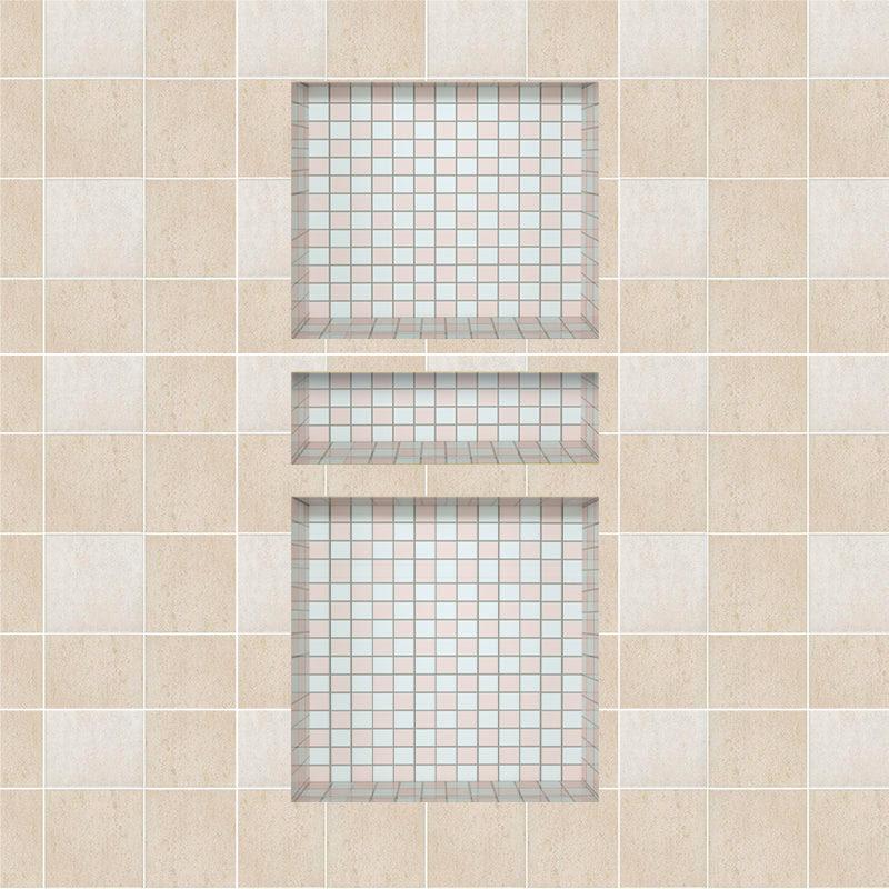 Recessed Shower Niche Triple Shower Shelves 36 X16 Ready Tile For Bat Uni Green