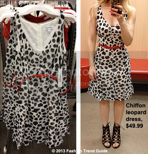 Kate Young for Target chiffon leopard print dress
