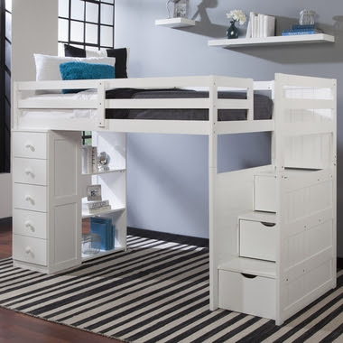 Mountaineer Twin Loft Bed with Storage Tower and Built in ...