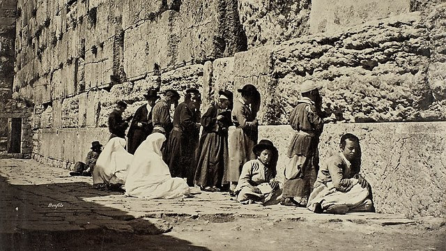 Jews praying at the Western Wall (Photo: Bonfils/SWNS.com