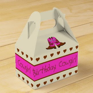 Pink Country Western Cowgirl Boots Party Gift Box Wedding Favor Boxes