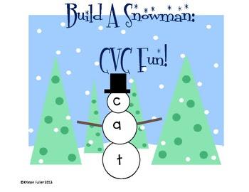 Build A Snowman: CVC Fun (FREE)