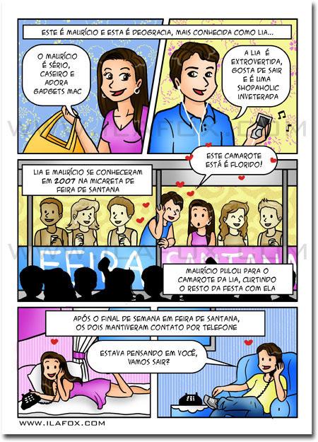 convite em história em quadrinhos personalizados para casamento, Salvador, Bahia, by ila fox