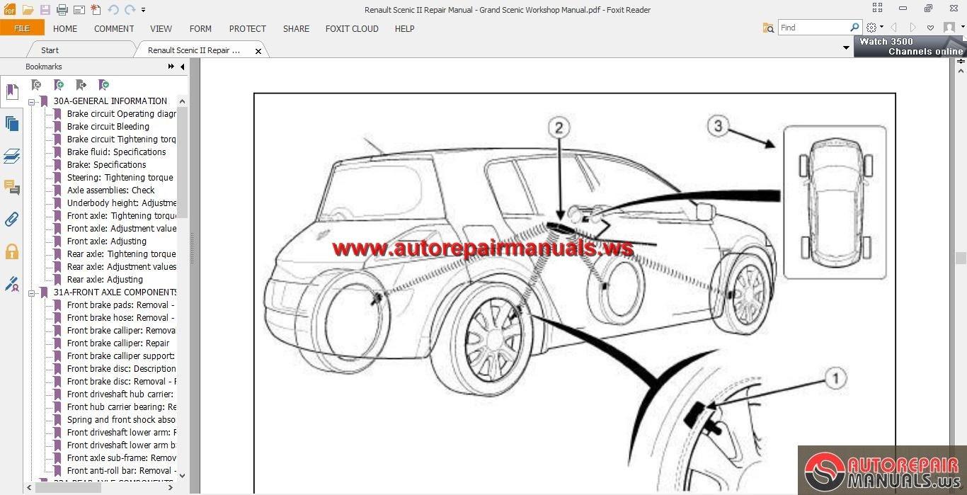Renault megane iii body service manual download manuals & tec.