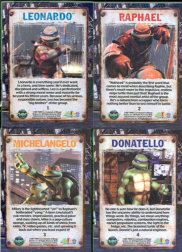 TMNT - Kmart Exclusive Movie Trading cards iii