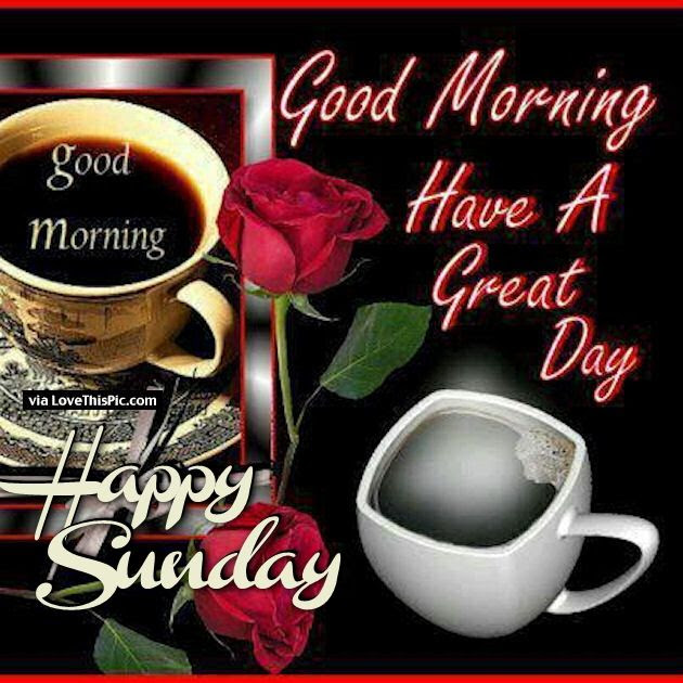 Good Morning Have A Great Day Happy Sunday Pictures Photos And