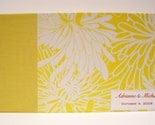 Custom Made Guest Book - lemon yellow chrysanthemum print