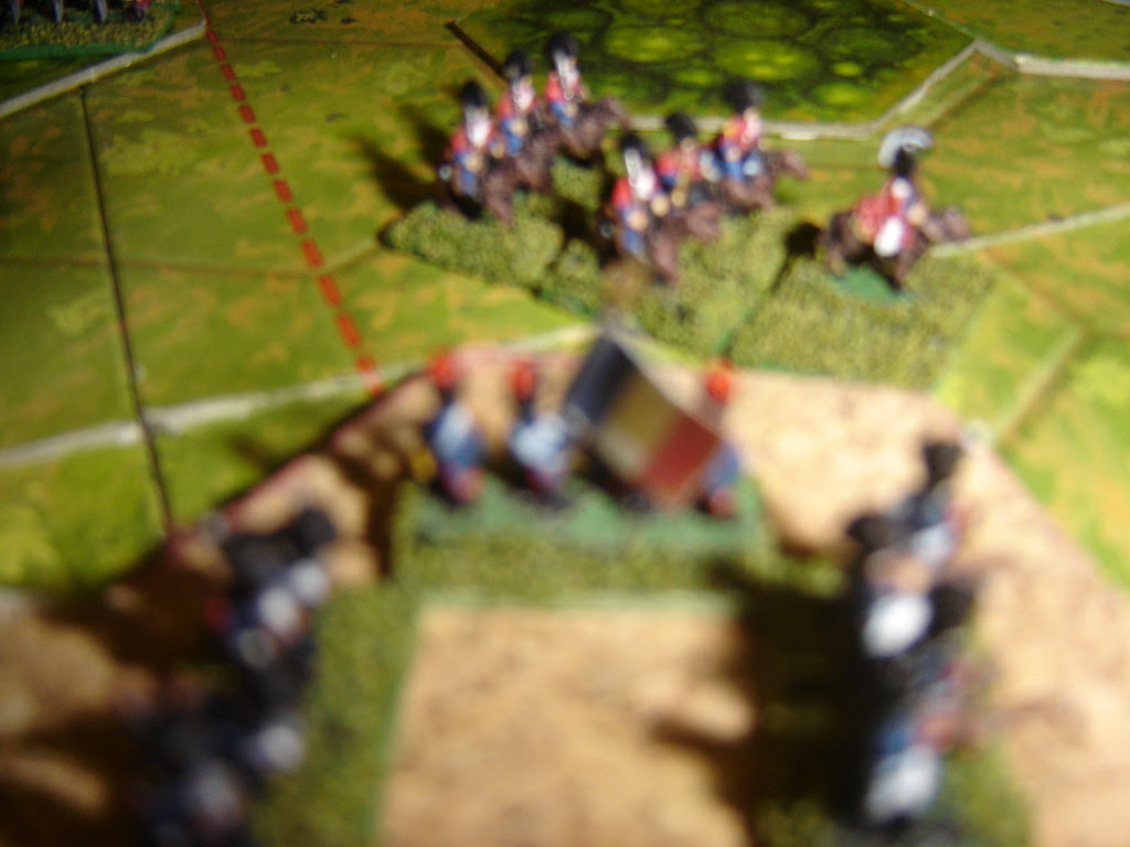 French look on as Ferguson leads heavy dragoons in once more