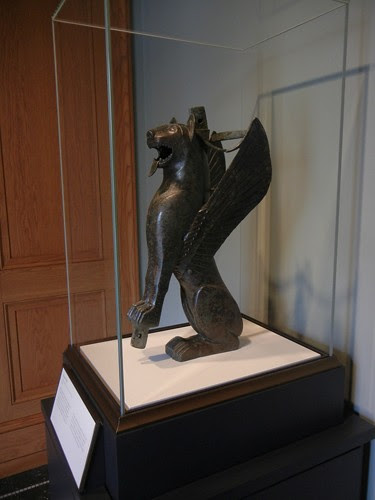 DSCN7324 _ Winged Feline, Tartesian, 700-575 B.C., Getty Villa, July 2013