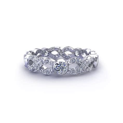 Diamond Infinity Wedding Ring   Jewelry Designs