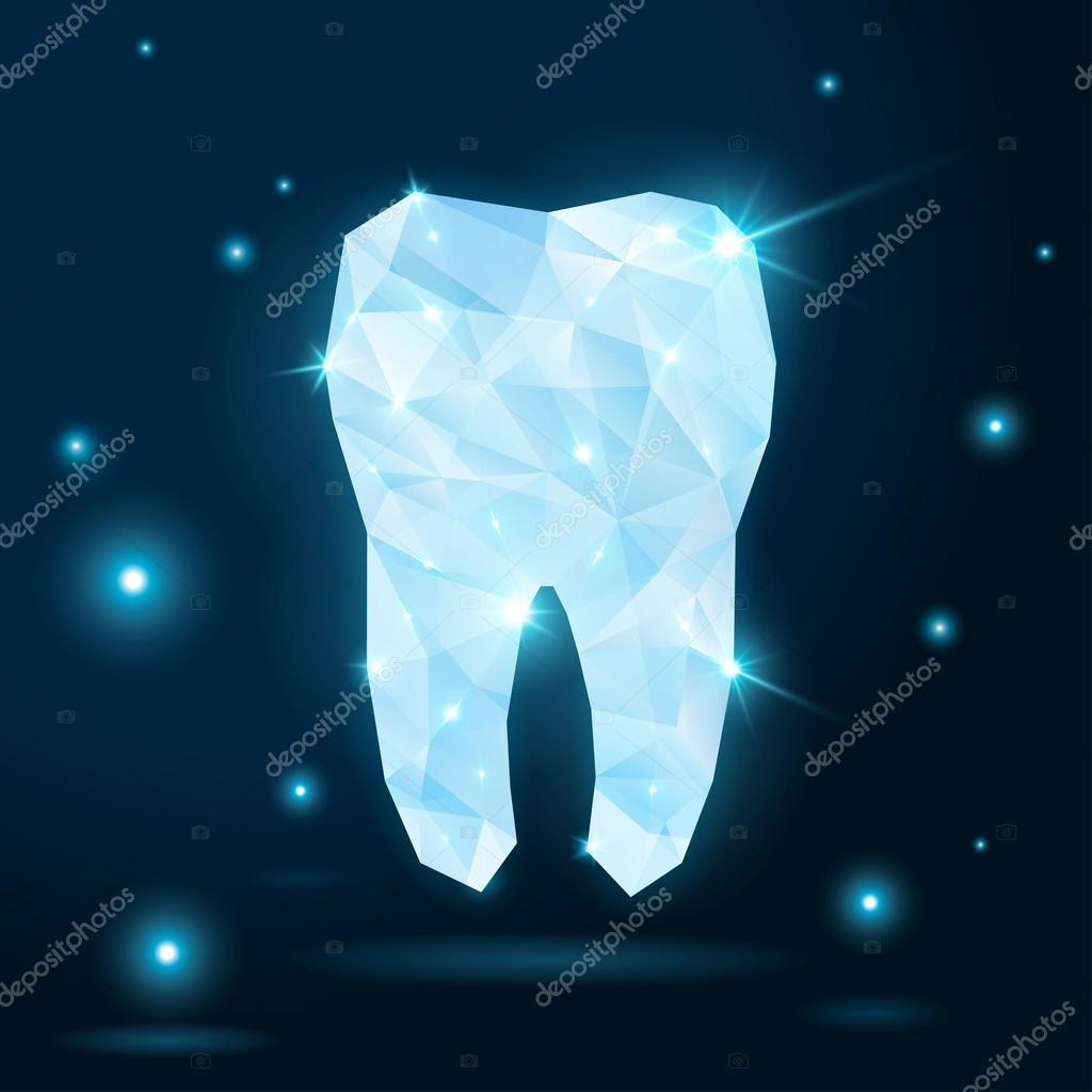 depositphotos_35441163 Polygonal white tooth on dark background