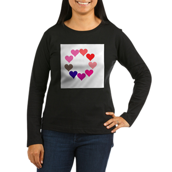 Circle of Rainbow Hearts Long Sleeve T-Shirt