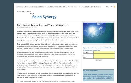 Selah Synergy Blog
