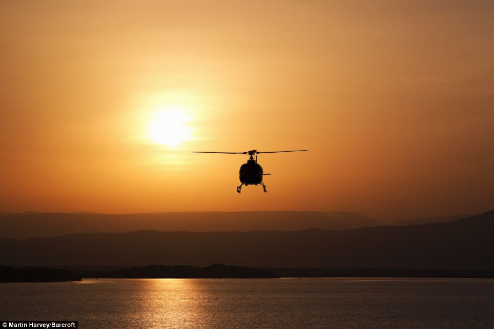 Exclusive: Wealthy wildlife spotters pay £65,000 to embark on one of the helicopter safaris