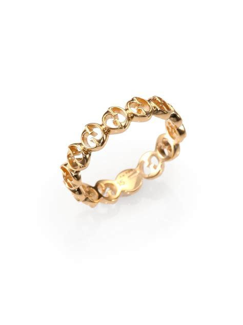 Gucci 1973 18k Rose Gold Band Ring in Metallic   Lyst