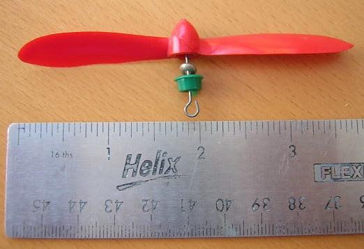 La hélice donde se observan los separadores