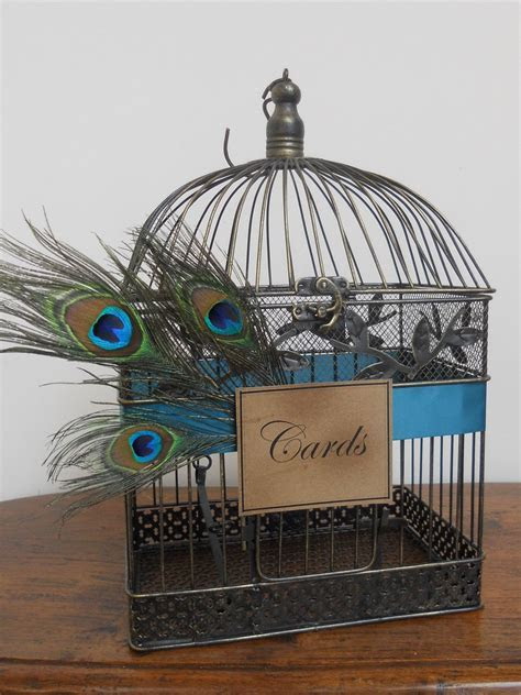 Wedding Card Box Peacock Birdcage Wedding Card Holder