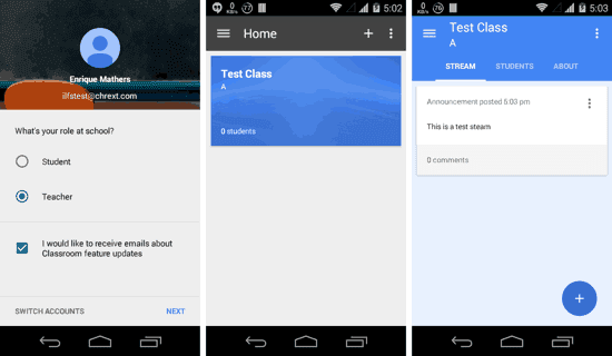 Aplikasi android khusus Guru