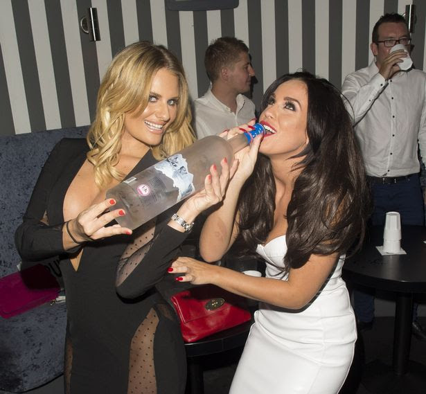 Danielle Armstrong and Vicky Pattison at Nu Bar in Loughton, Essex, England