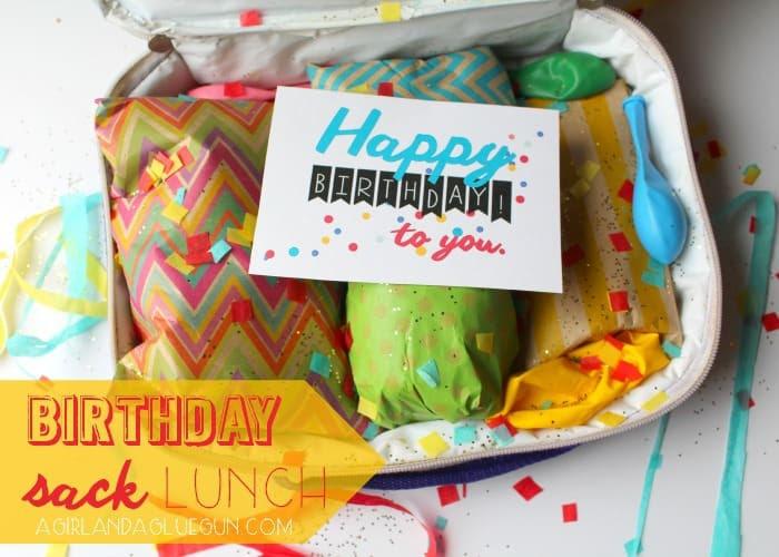 birthday sack lunch