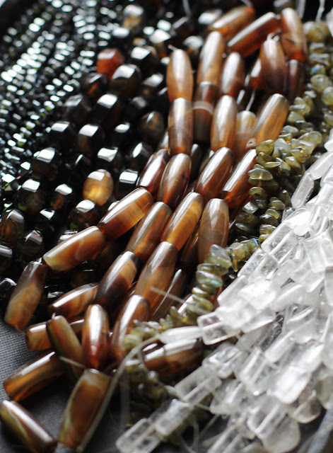 Stone-beads for Autumn/ winter collection