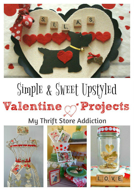Simple & Sweet Upstyled Valentine Projects - My Thrift Store Addiction