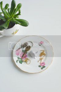 diy bunny animal trinket dish