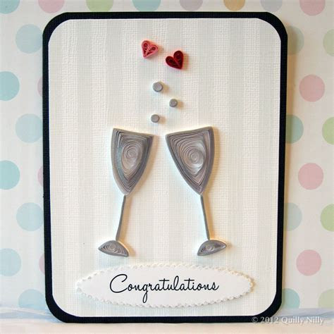 Paper Quilling Wedding or Anniversary Champagne Glasses