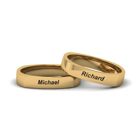 personalized gay wedding rings   rose gold