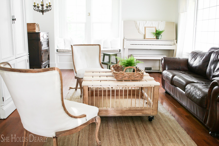 Farmhouse Living Room Reveal - She Holds Dearly