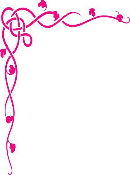 Pink Brown Flower Border Clip Art at Clker.com   vector