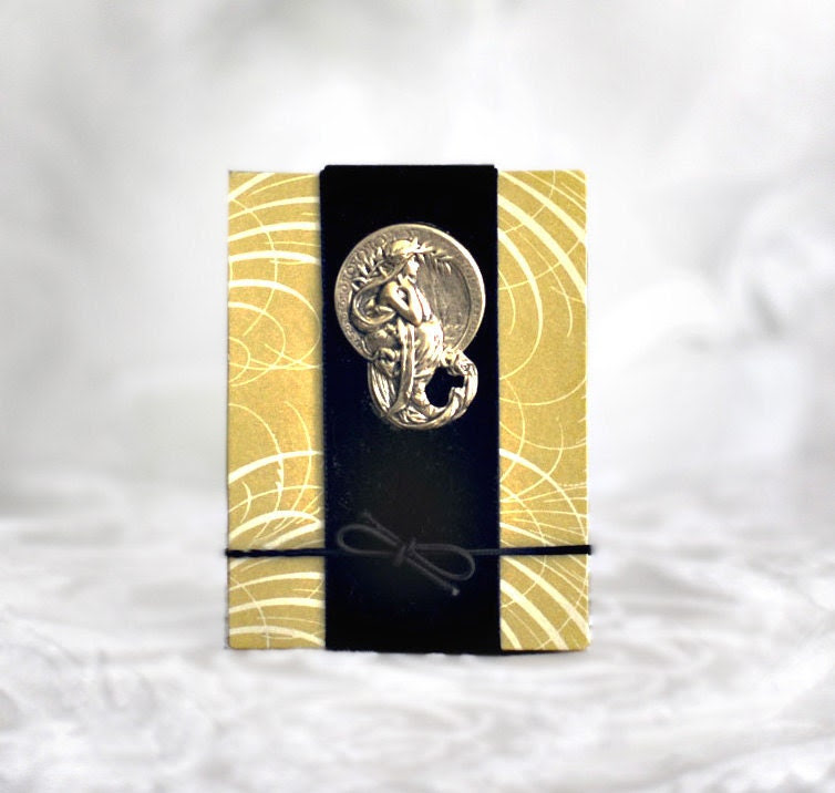 Ancestry Album, Keepsake Accordion Book, Family Memory Book, Genealogy, Photo Album, Mucha, Art Nouveau Goddess, Blank Journal - KandiceInWonderland