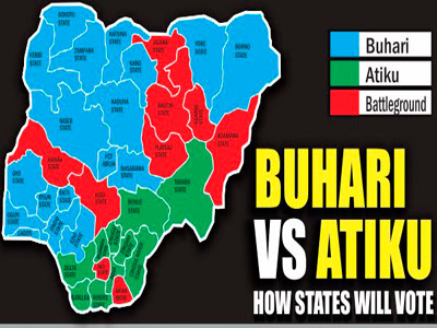 Buhari versus Atiku: How states will vote