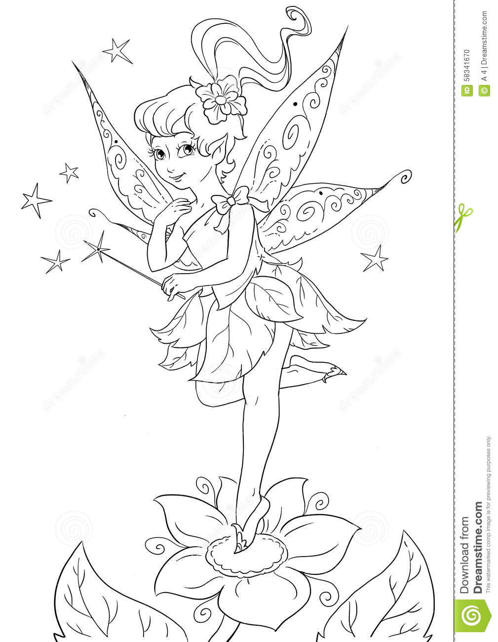 Flower Fairy Stock Illustration - Image: 58341670