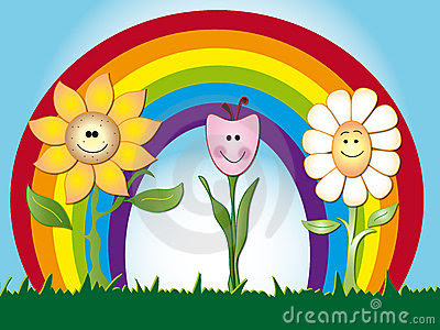 Flowers Cartoon Stock Images