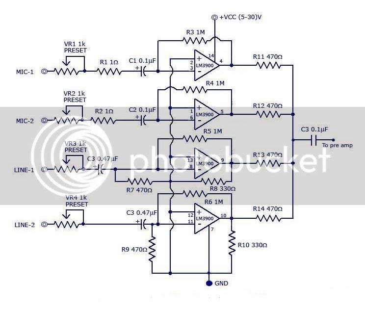 mixer wiring diagrams ts big idea jrc4558 mixer diagrams circuits  jrc4558 mixer diagrams circuits