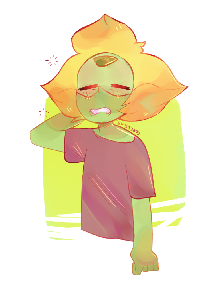 Is it just me or is drawing peridot with fangs really fun…