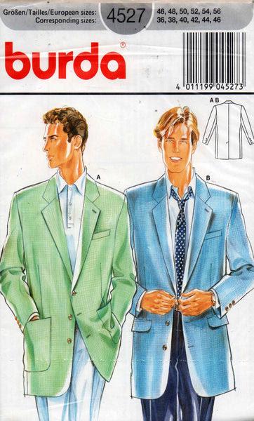 50s Men/'s Sport Coat Suit Jacket Notched Collar Pockets Vintage Sewing Pattern 2251 36