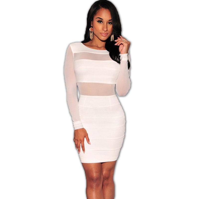 Out bodycon dress sleeve white plus size long walmart