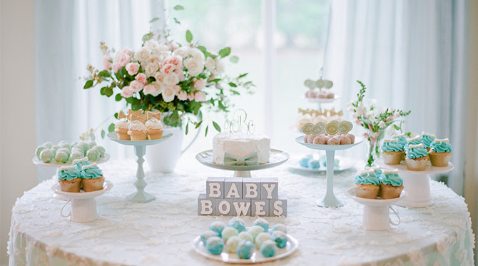 Bowtie Tea Party Baby Shower Inspired By This