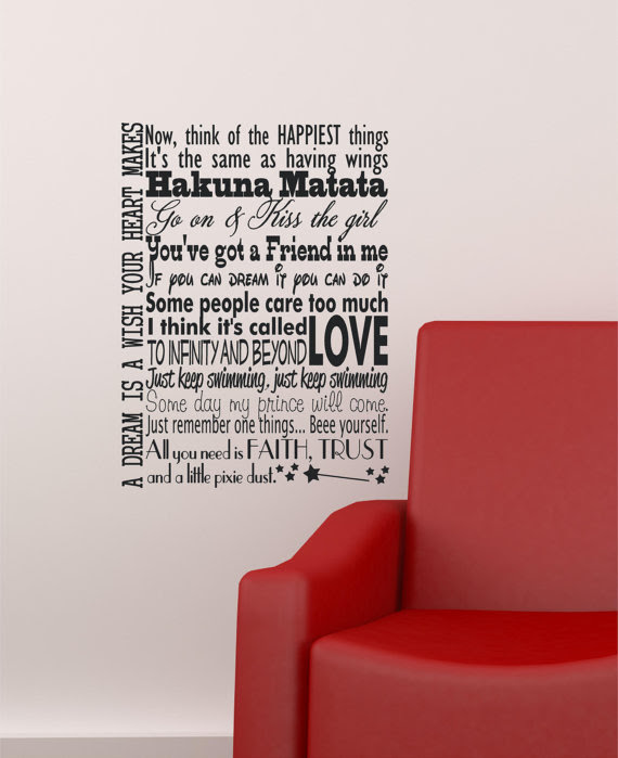 Disney Quotes Wall Decals  in this house wall sticker  ebay with in this house we do disney 2