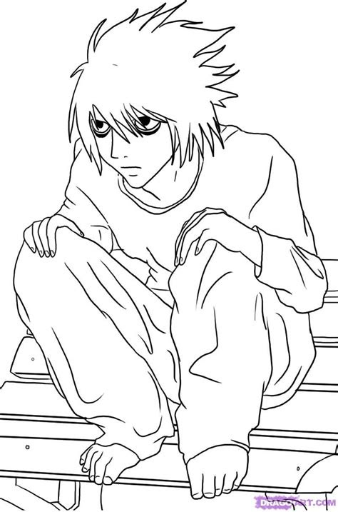 draw  lawliet  death note step  step anime