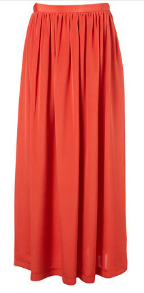 topshop silk maxi skirt by boutique 100.00