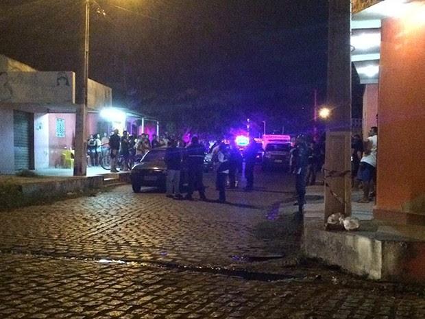 Crime aconteceu no Bairro Potengi (Foto: Kléber Teixeira/Inter TV Cabugi)