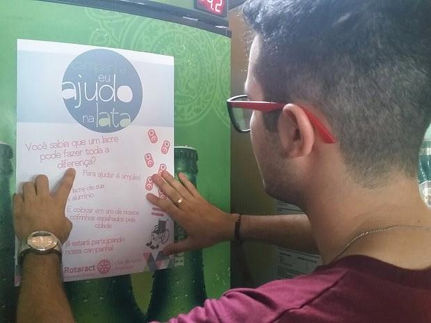 Campanha é promovida por jovens de Santo Anastácio (Foto: Gabriel Tibaldo/TV Fronteira)