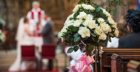 The cost of church weddings